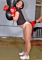 Katya boxing in pantyhose